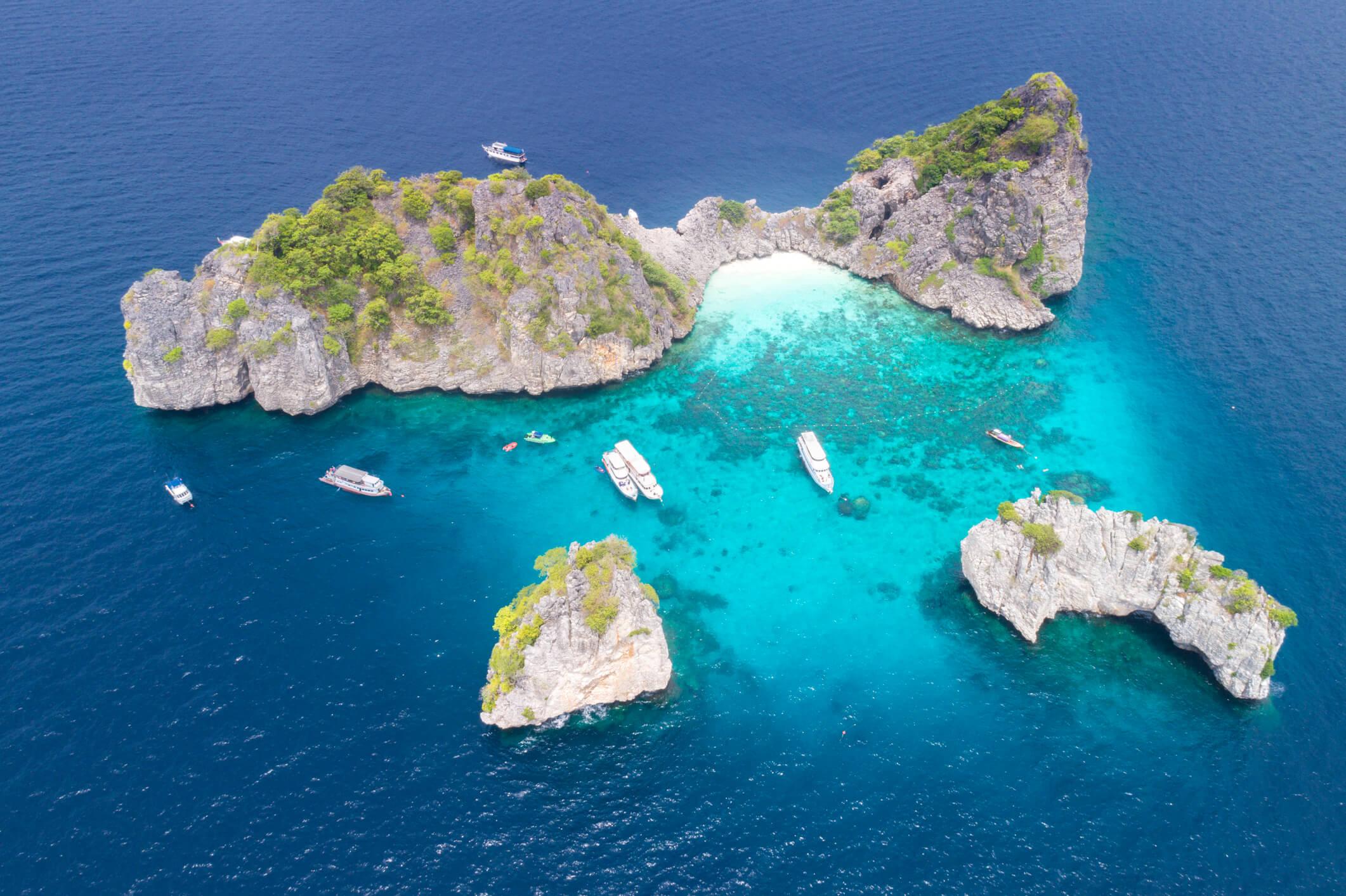 Aerial view of Ko Lanta - places to see in Krabi