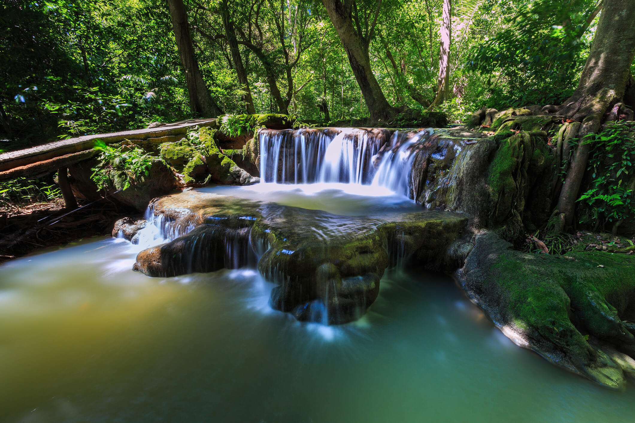 The waterfalls at Than Bak Thorani - places to see in Krabi