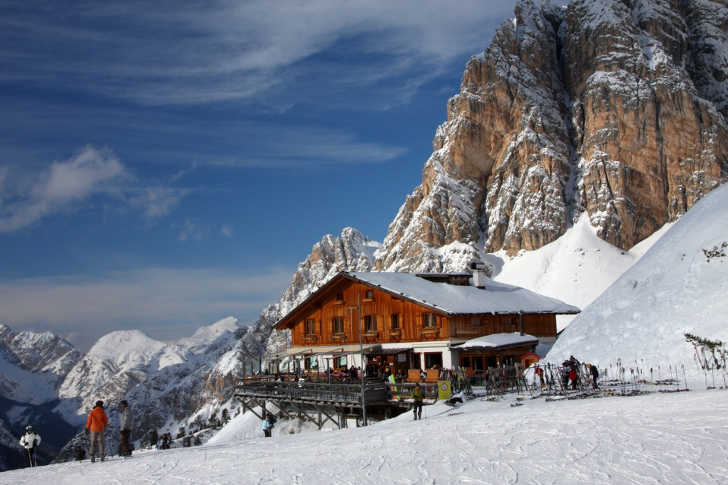 places to ski in Europe Cortina D'Ampezzo Italy