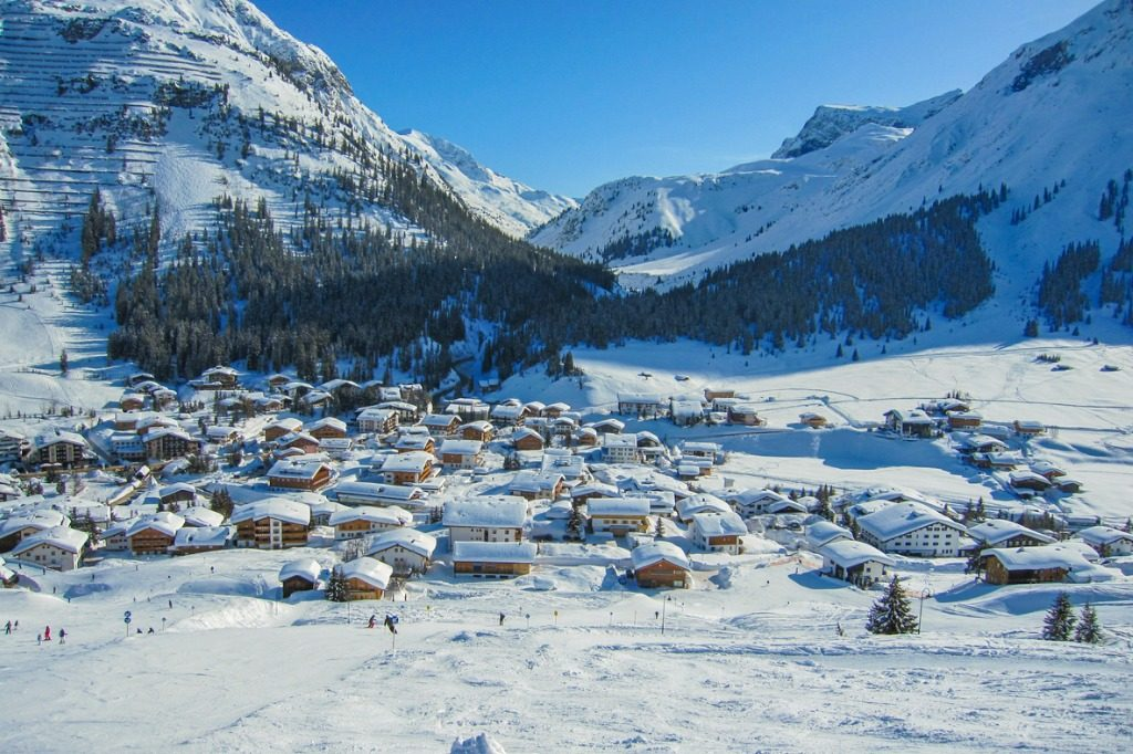 places to ski in Europe Lech