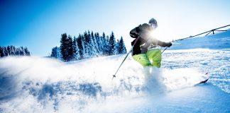 Skier alps