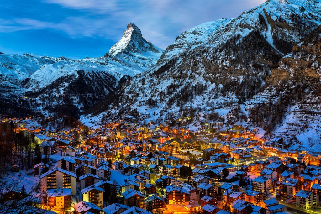 places to ski in Europe Zermatt