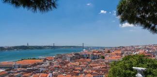 View of the city from one of the viewpoints of São Jorge Castle
