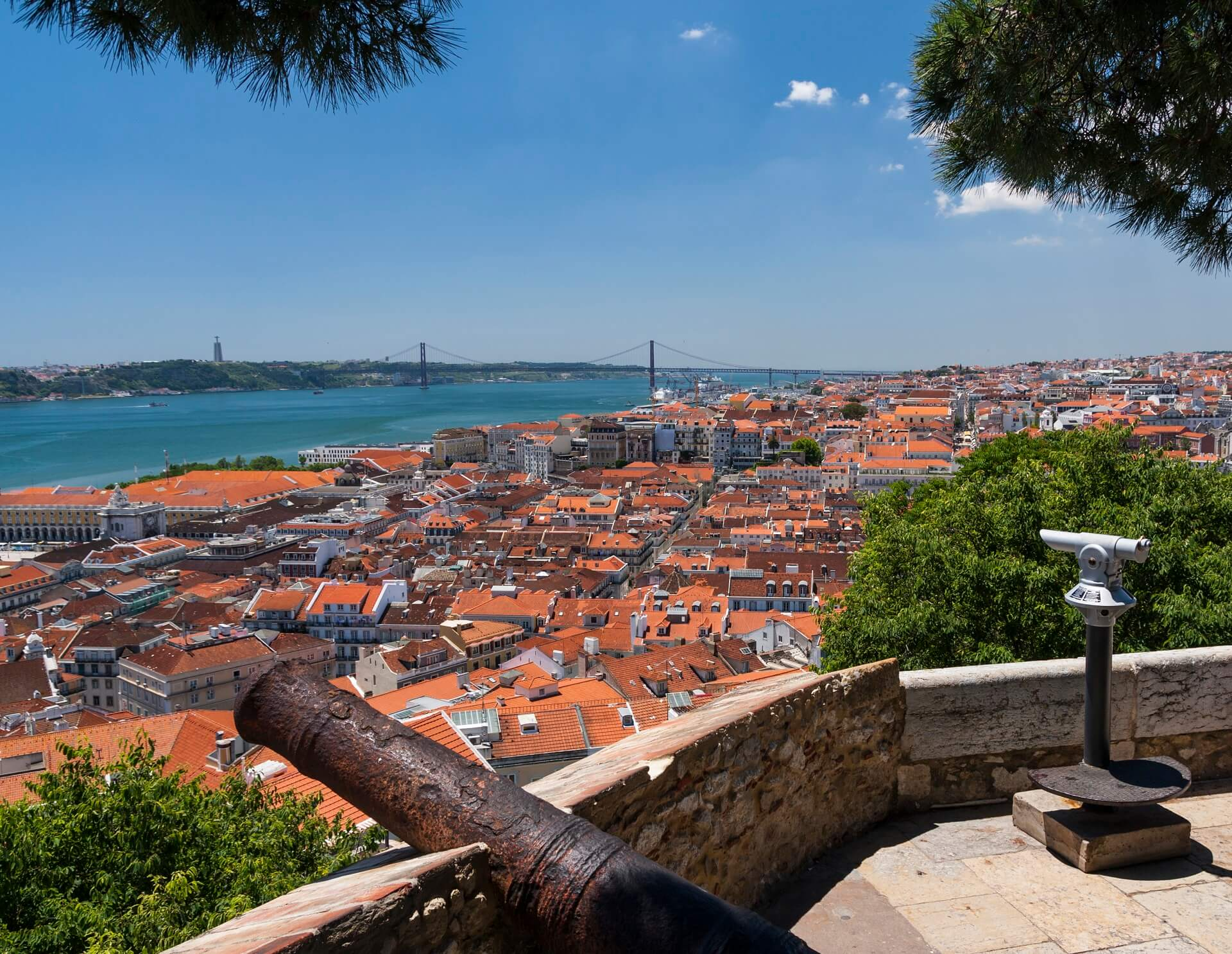 Viewpoint of São Jorge Castle - what to see in Lisbon