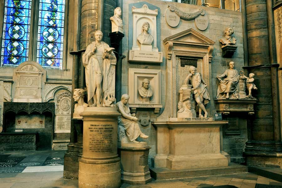 Poets Corner Westminster Abbey London Literary Cities