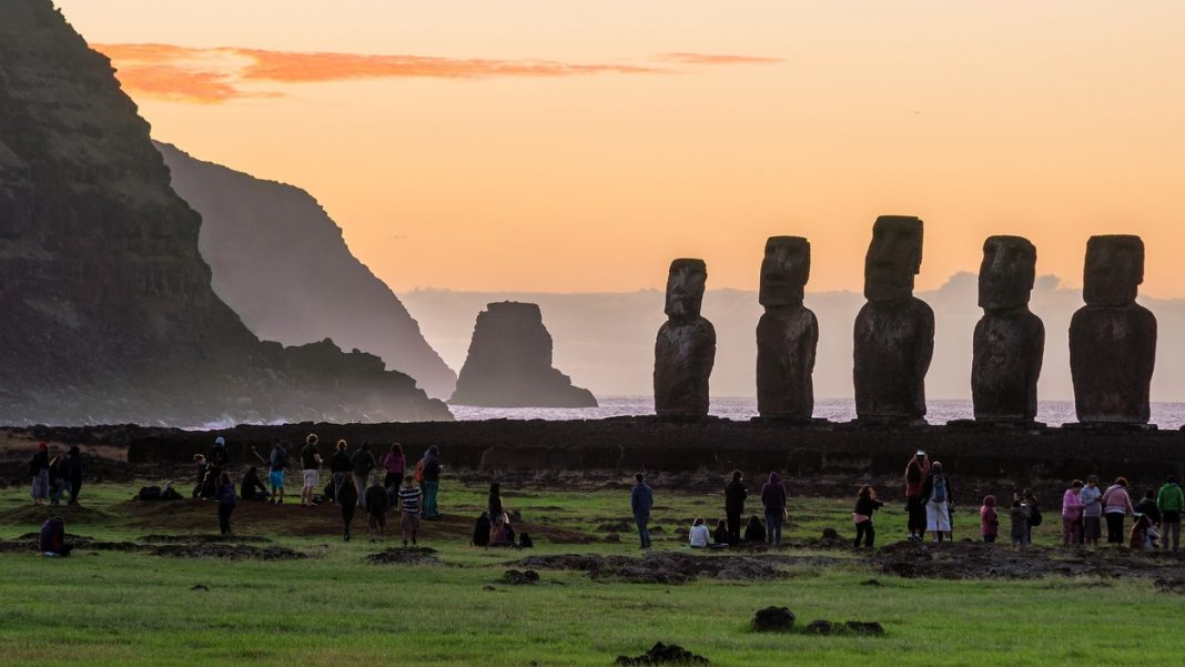 Moai statues in Easter Island, Chile
