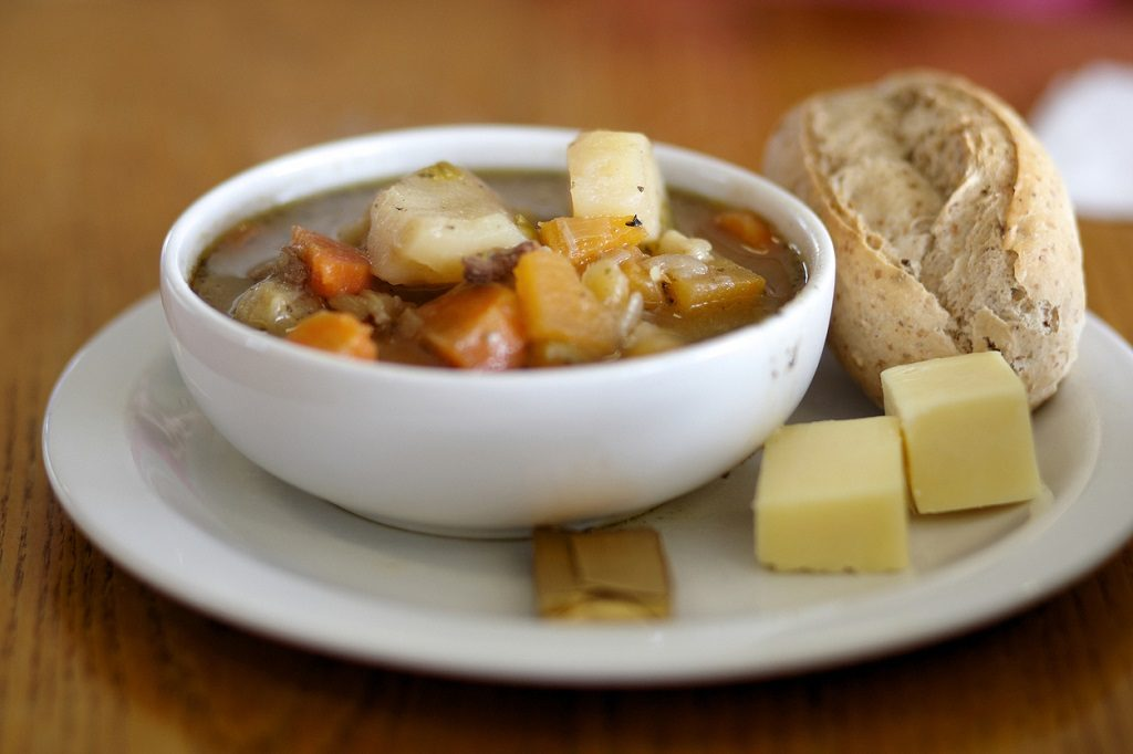 Traditional Welsh food cawl