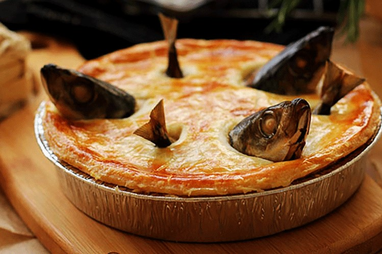 Stargazy Pie Cornish food