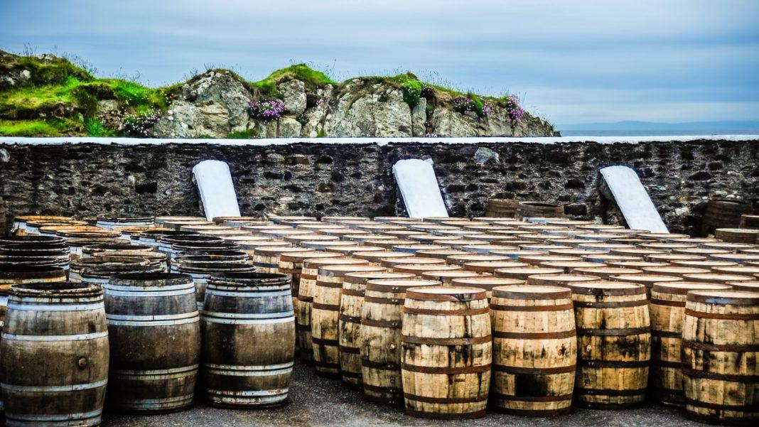 whisky barrels hebrides scotland