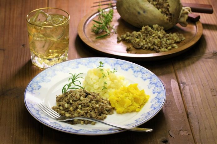 haggis neeps tatties and scotch whisky, scotland scottish food