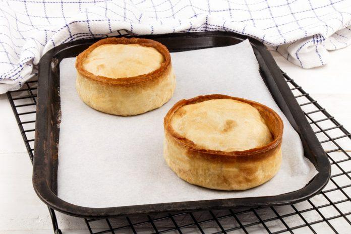 fresh and warm baked scotch pie