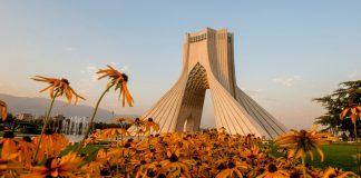 Azadi Tower, a landmark of Tehran, Iran