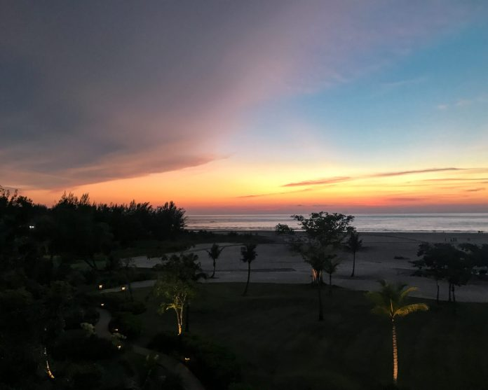 sunset at Rasa Ria near Kota Kinabalu, Sabah