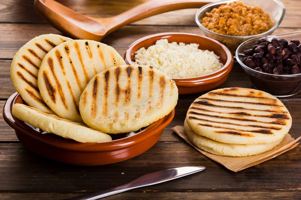 Breakfast typical of Latin American countries, Arepa