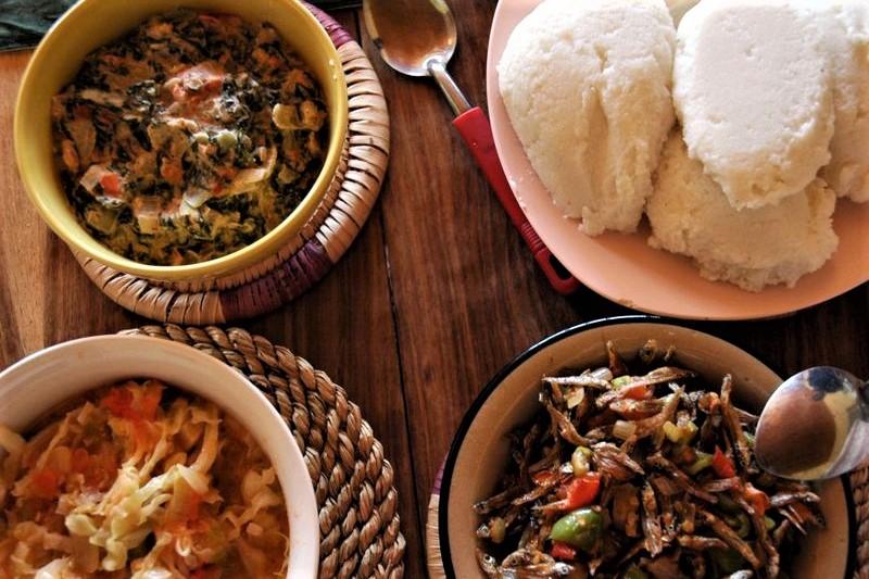 Zambia food Nshima