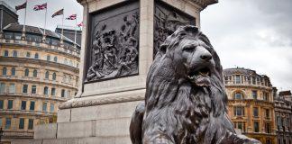Bronze Lion at Trafalger Square lions