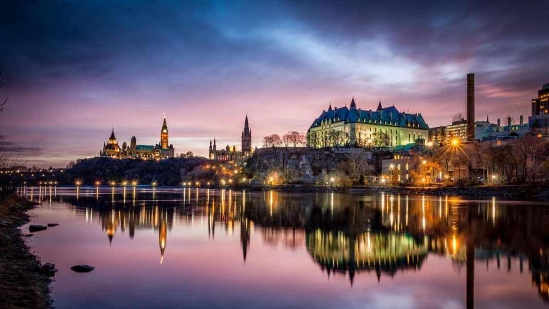 Ottawa River and Parliament of Canada at Sunrise