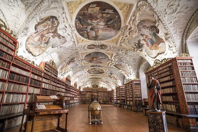 Strahov Monastery Library Prague beautiful libraries