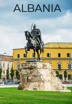 Statue in Albania
