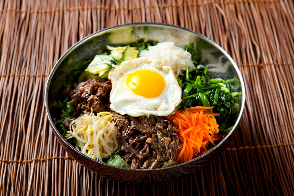 Bibimbap - Korean Rice Dish Mixed with Vegetables