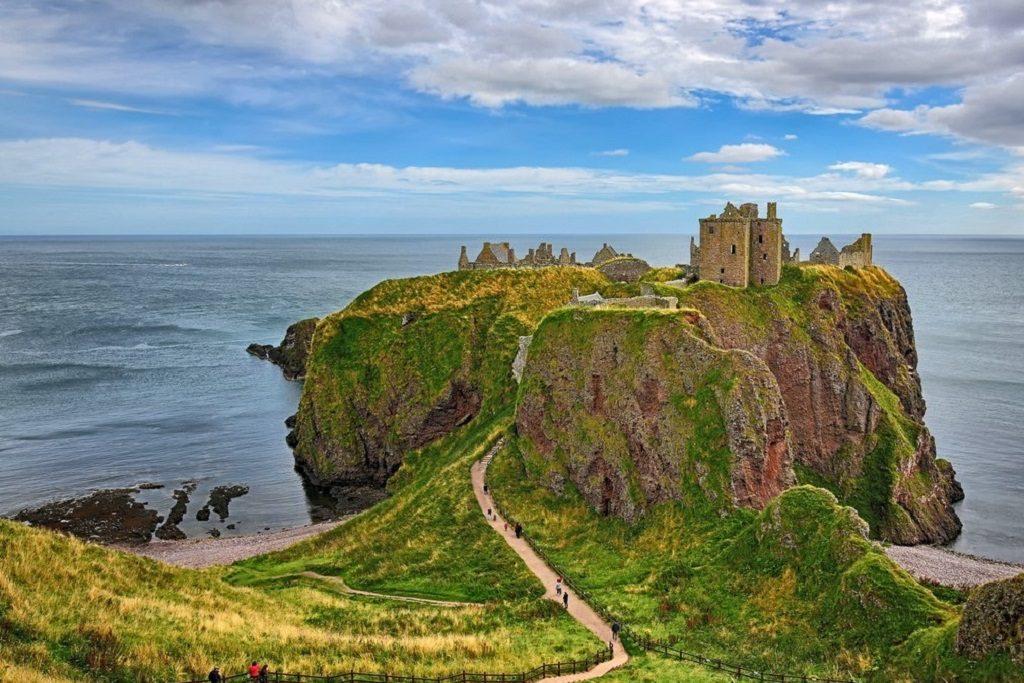 Medieval fortress Dunnottar Castle, Aberdeenshire, Scotland