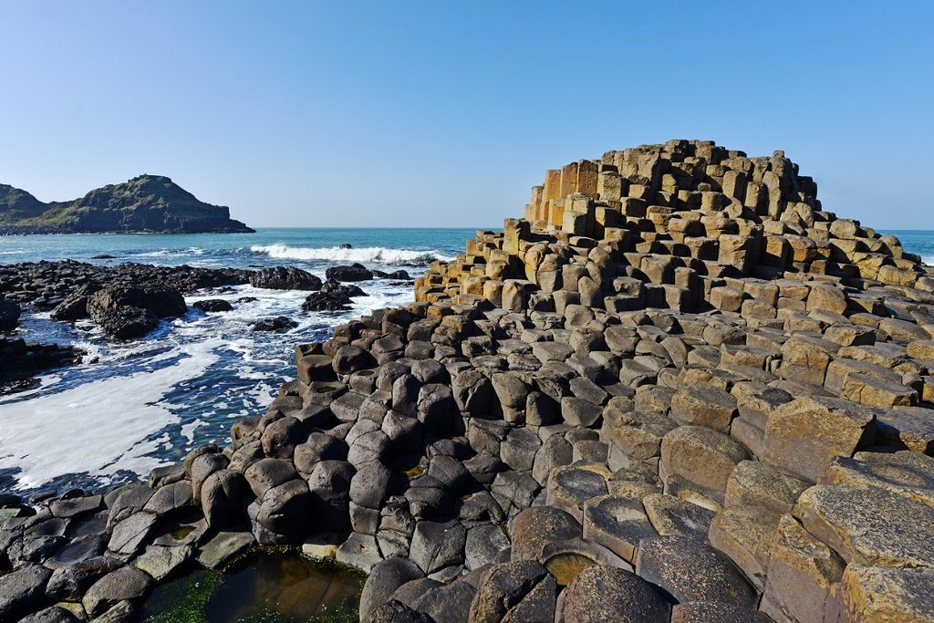 The Giant's Causeway geological feature on the Antrim coast in Northern Ireland