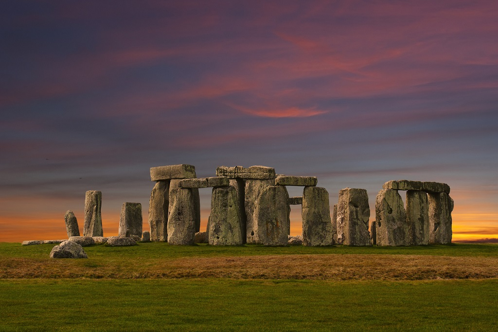 Stonehenge at sunset, Mysterious Destinations