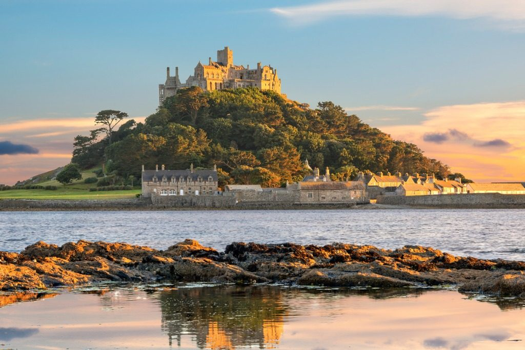 St Michael's Mount island in Cornwall, most beautiful places in UK