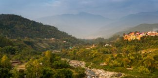 landscape of a himachali town, North India
