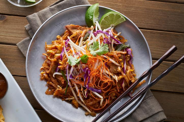beef pad thai - best street food in Bangkok