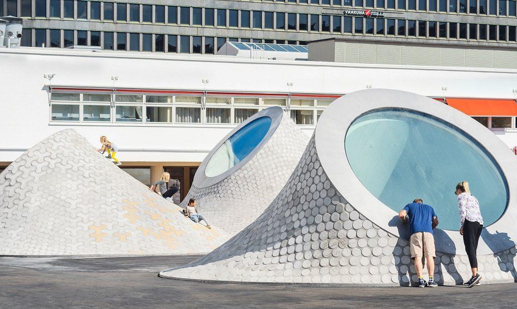 Amos Rex underground art museum Helsinki Finland