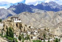 Panoramic view of Lamayuru monastery in Ladakh, India - hill stations in india