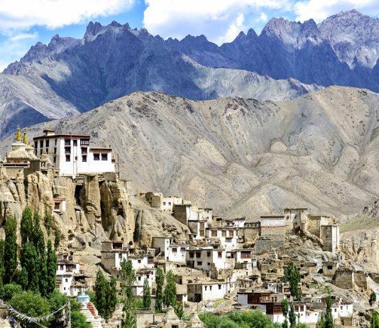 Panoramic view of Lamayuru monastery in Ladakh, India - hill stations in india