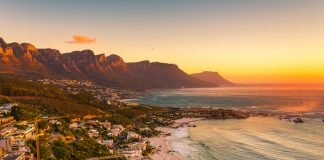 Clifton Beach in Cape Town, South Africa at late afternoon - visit Cape Town