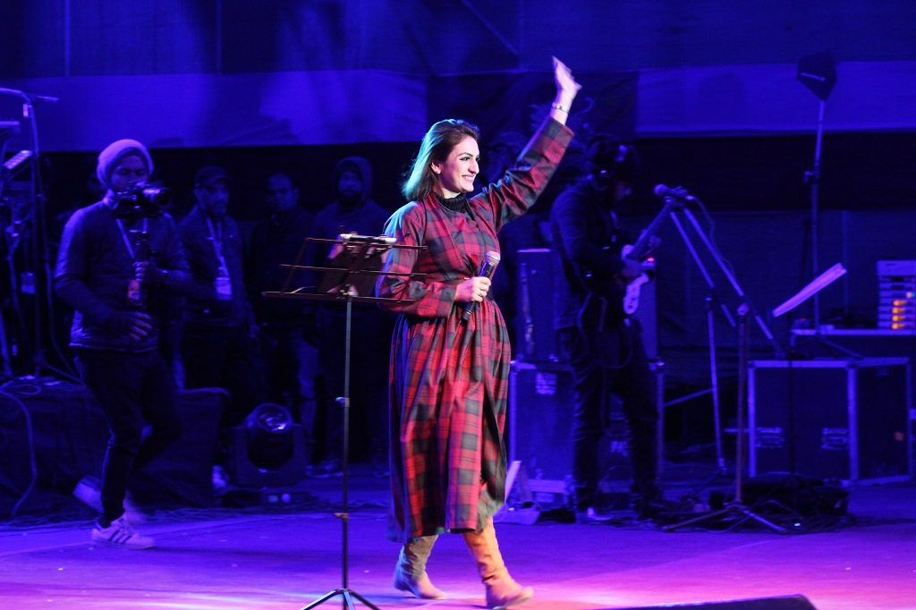 Akriti Kakar performing at Naropa Festival