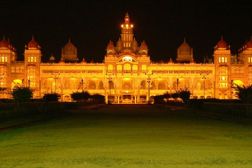 Long drive from Bangalore to Mysore-palace