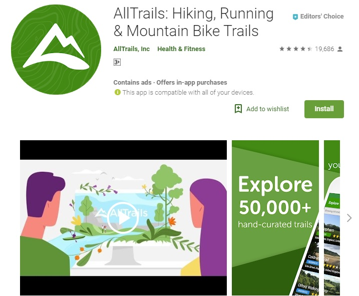 AllTrails App screenshot