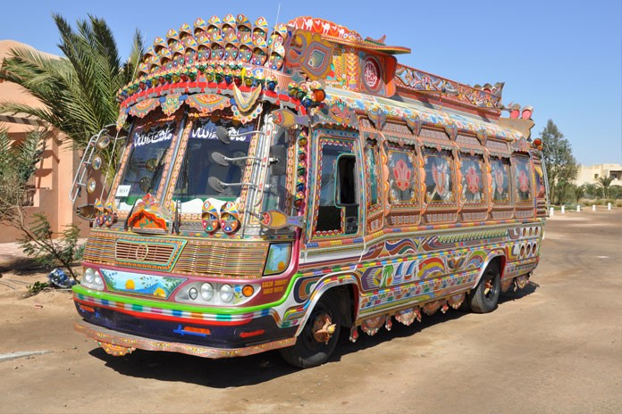 Colourful Pakistani public bus - travelling to Pakistan