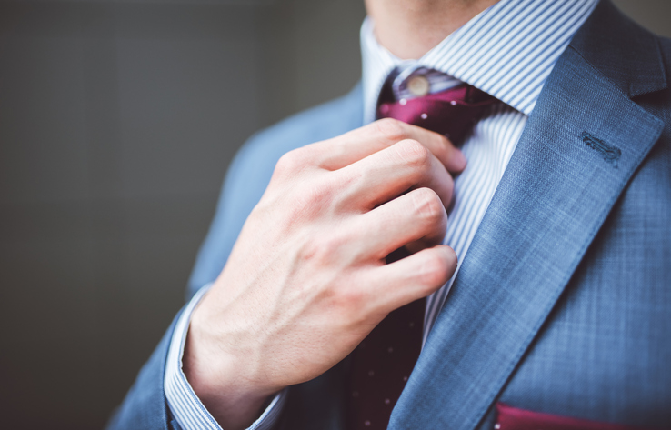 tie for a formal look - men's business travel wardrobe