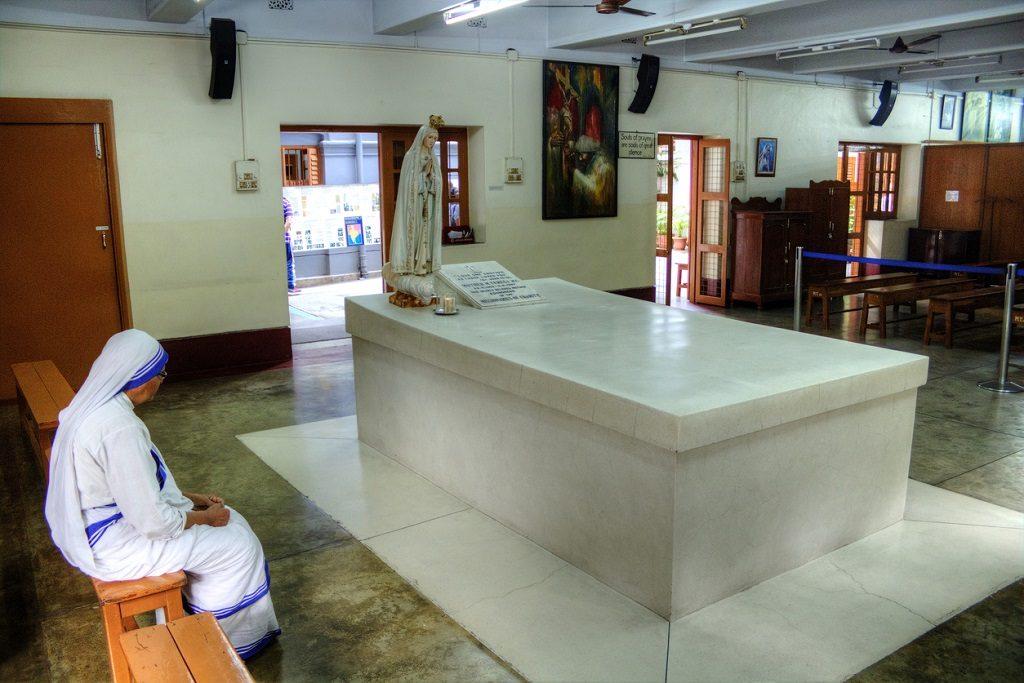 Mother Teresa's Tomb in Kolkata, India
