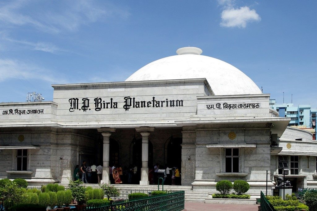 The Birla Planetarium Kolkata, West Bengal. This is a single storeyed with center dome similar to buddhist stupa