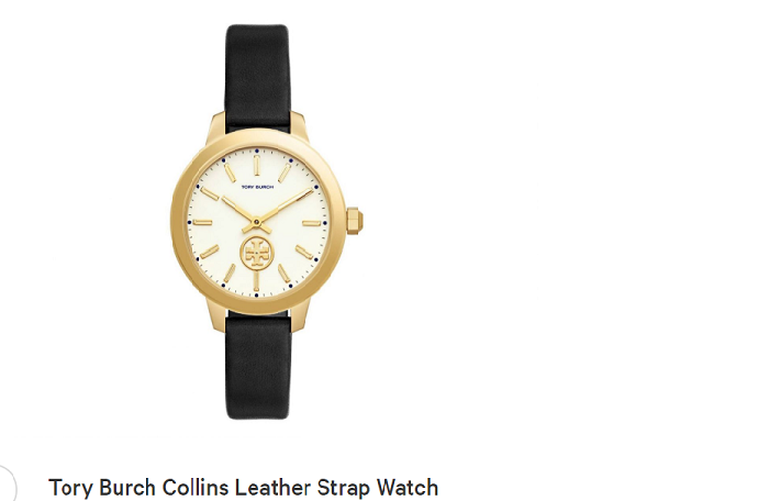 Tory burch collins leather strap, watches for women