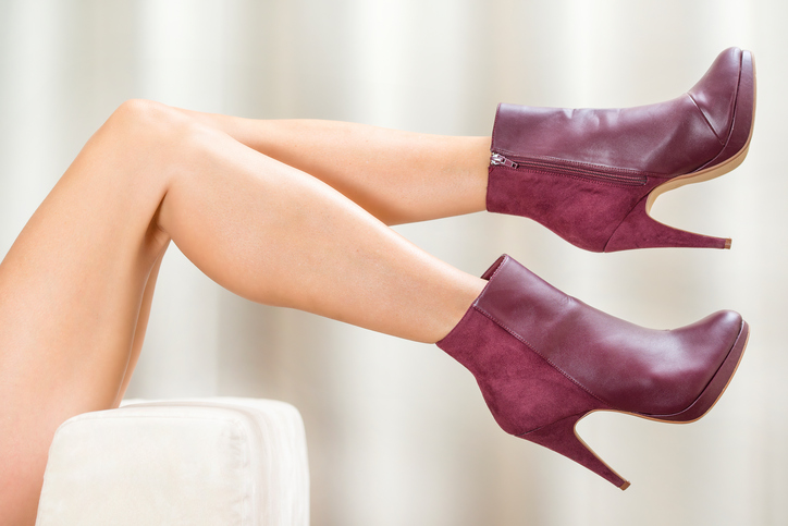 Red Ankle length boots for women