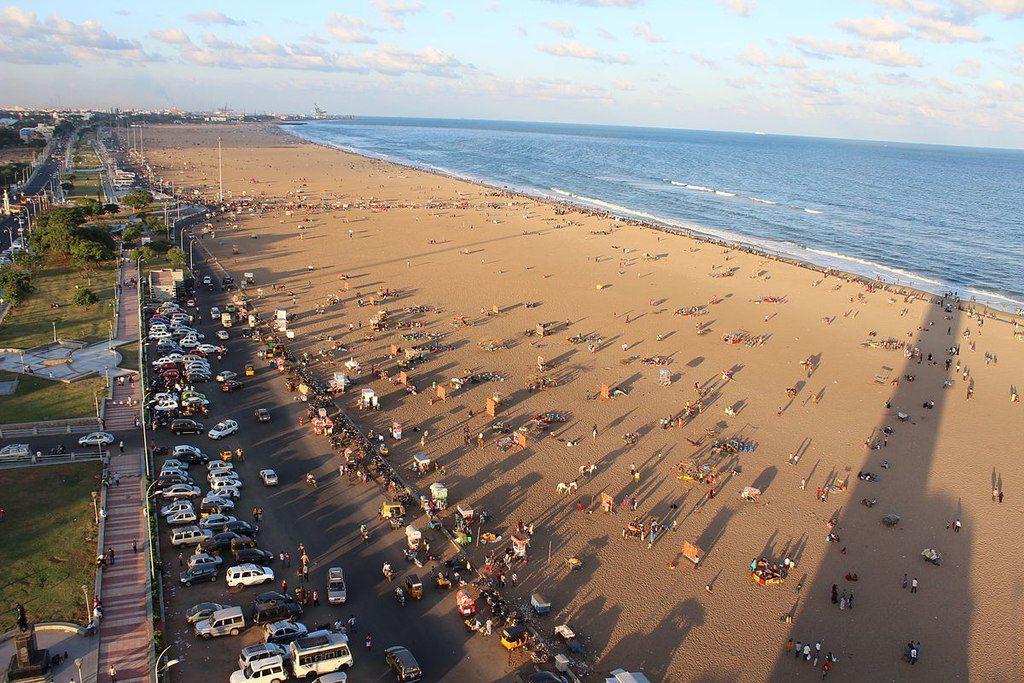 places to see in chennai marina beach