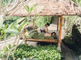 open air, outdoor massage in Bali