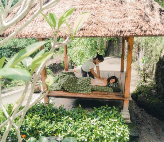 open air, outdoor massage in Bali