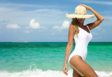 Women's bathing suits in one piece