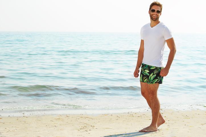 Beach My Happy Place Sea On Wood Mens Summer Beachwear Sports Running Swim Board Shorts Mesh Lining