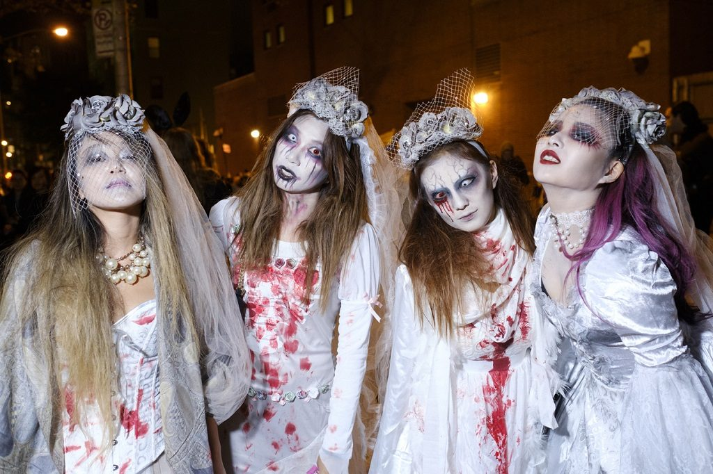 Group of Zombies joining the Halloween Parade