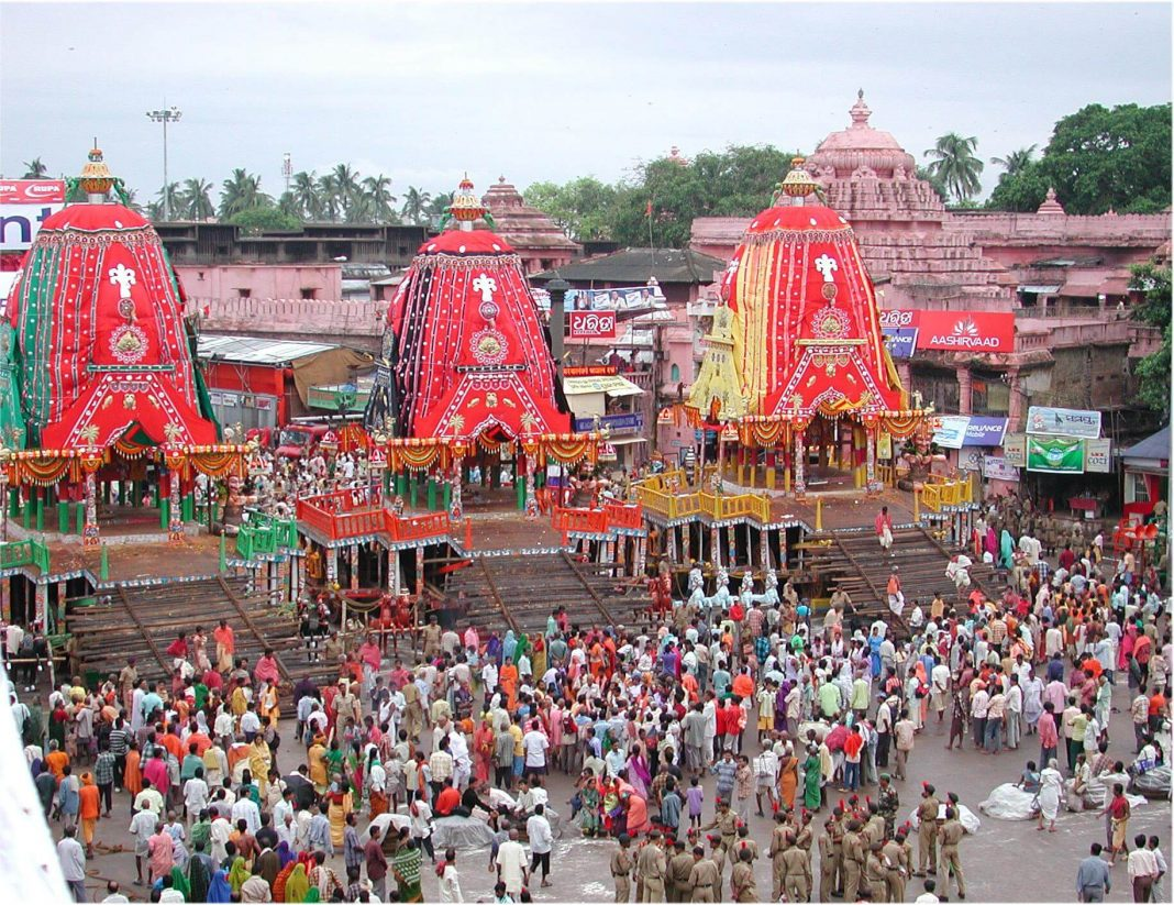 Rath Yatra at the Jagannath Temple in Puri, Orissa, India
